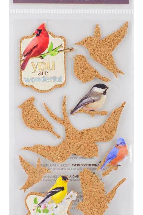 Cork'd Embellishments, Birds