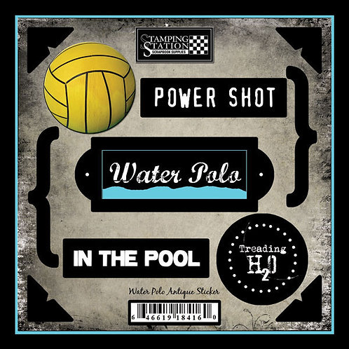 Water Polo Antique Sticker Sheet
