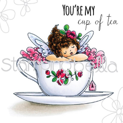 Edna's Cup of Tea Cling Rubber Stamp Set