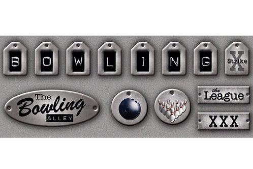 Antiqued Metallic Bowling Tags