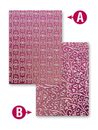 Twisted Hearts Reversible Embossing Folder