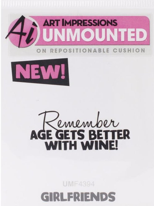 Age Gets Better with Wine Cling Stamp