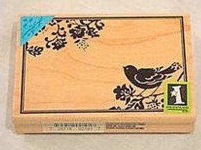 Bird Frame Border Wood Mounted Stamp