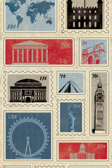 Abroad Die Cuts,Stamp Blocks