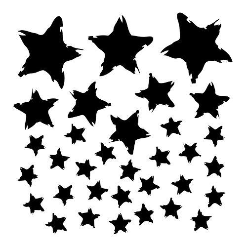 Mini Star Fall 6x6 Template