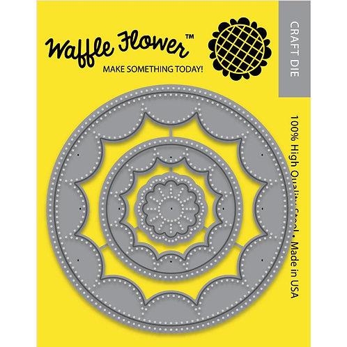 Inverted Stitched Flower Circles Die Set