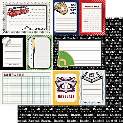 Softball Sports Journal Cardstock