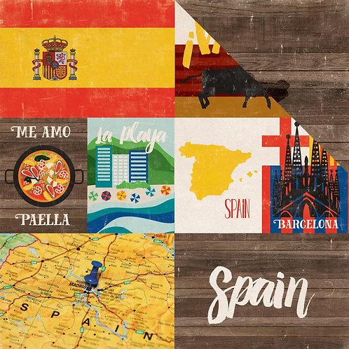 Spain Around the World Cardstock