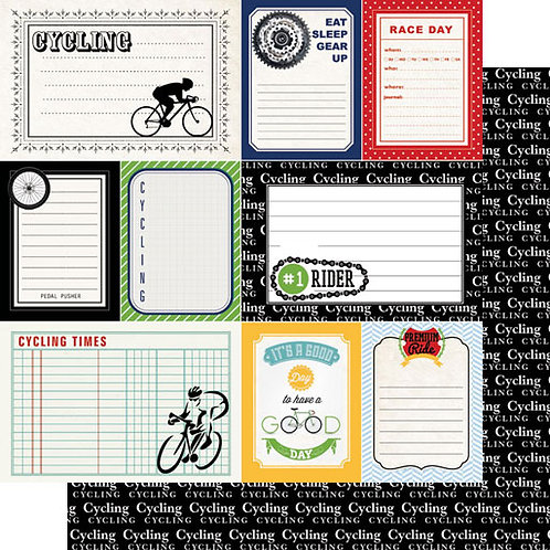Cycling Sports Journal Cardstock