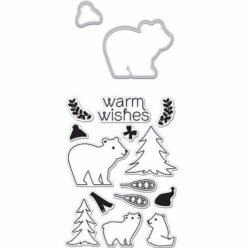Winter Bear Stamp & Die Combo
