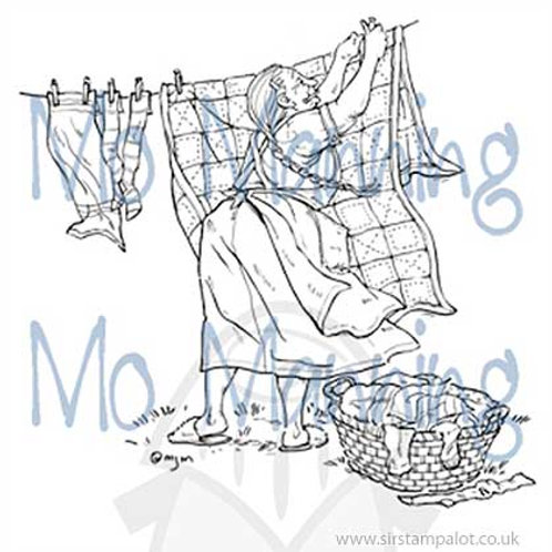 Mummu's Laundry Clear Stamp