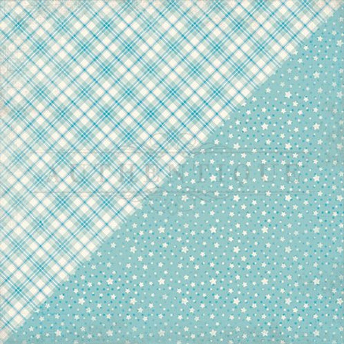 Swaddle Boy 5 Stars and Tartan Cardstock