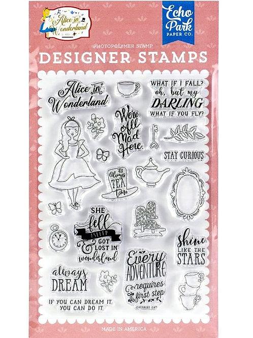 Alice in Wonderland Dream Clear Stamp Set