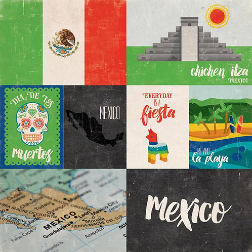Mexico Around the World Cardstock