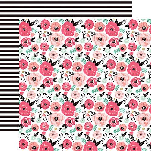 Fashionista Floral Cardstock