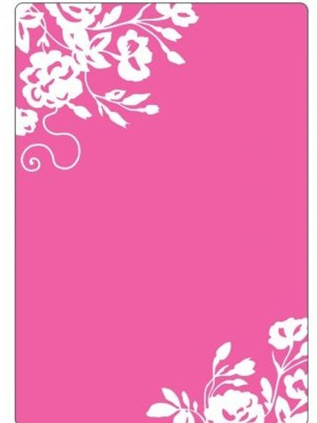 Border Blooms Textured Impressions Embossing Folder