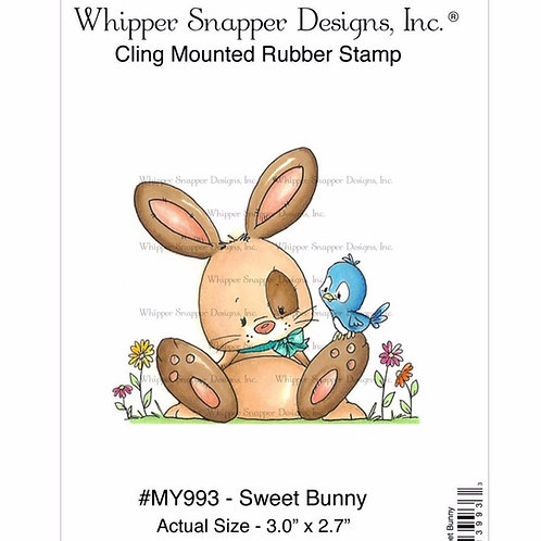 Sweet Bunny Cling Rubber Stamp