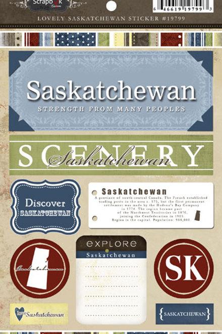 Lovely Saskatchewan Sticker Sheet
