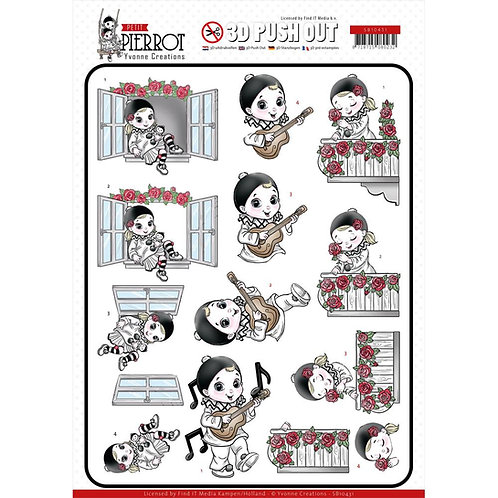 Petit Pierrot Serenade 3D Punchout Sheets