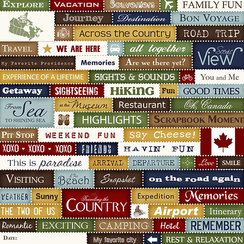 Canada Chic Collage Cutouts Cardstock