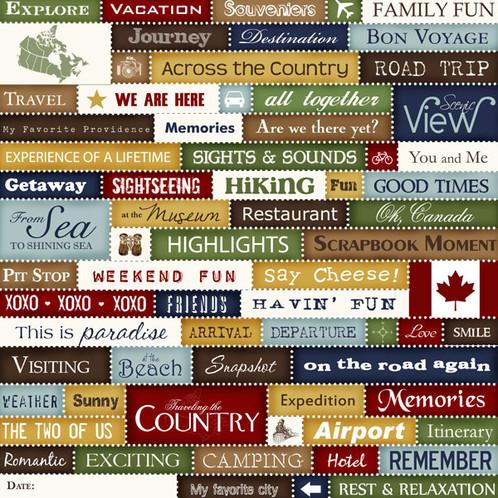 Canada Chic Collage Cutouts Cardstock Scrapbook Supplies Invermere