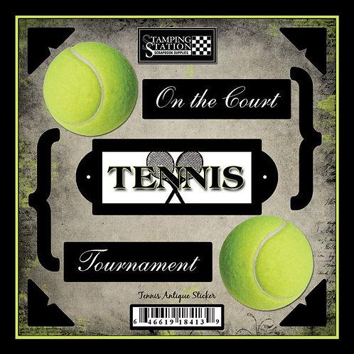 Tennis Antique Sticker Sheet