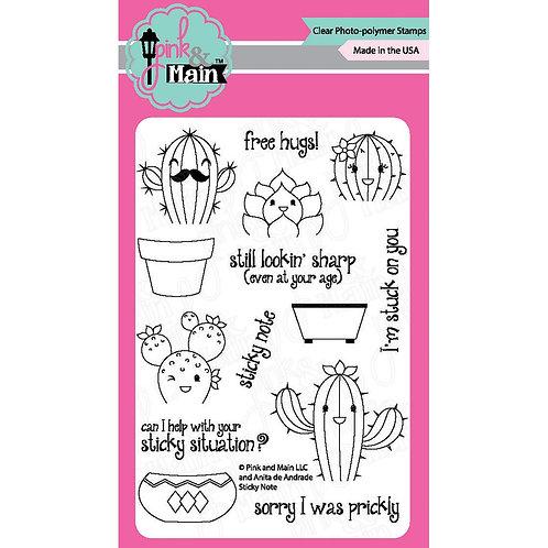 Sticky Note Clear Stamp Set