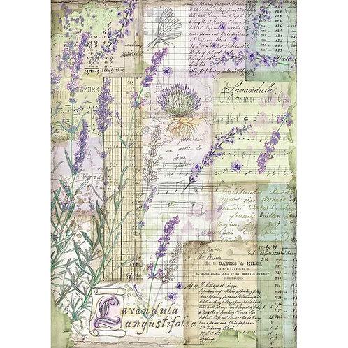 Stamperia Lavendar Fantasy Rice Paper