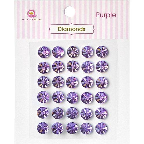 Diamond Embellishments, Purple