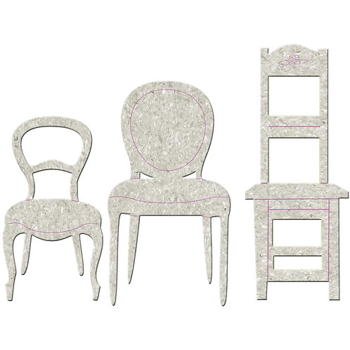 Chipboard Formal Chairs 3 pk