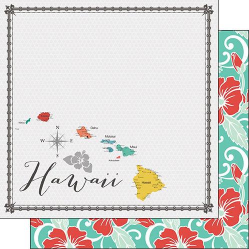 Hawaii Memories Map Cardstock