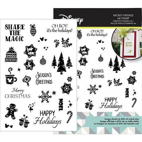Mickey Vintage Christmas Stamp Set