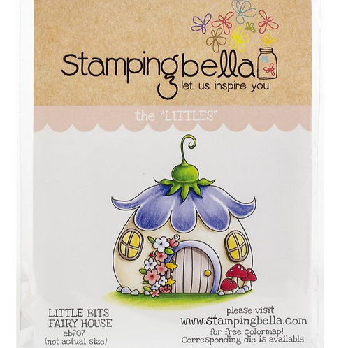 Little Bits Fairy House Cling Rubber Stamp Set
