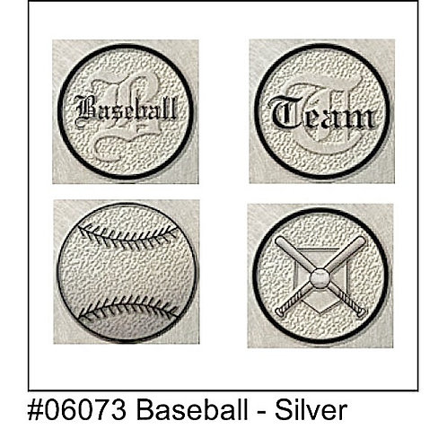 Baseball Letterman Pin Stickers