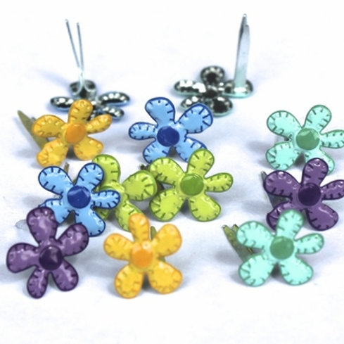 Mini Bright Flower Brads