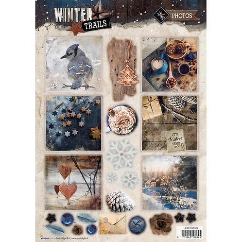 Winter Trails 3D Photo Punch out Sheet