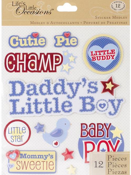 Baby Boy Cute Names Sticker Medley