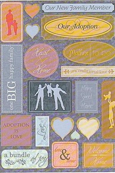 Adoption is Love Sticker Sheet