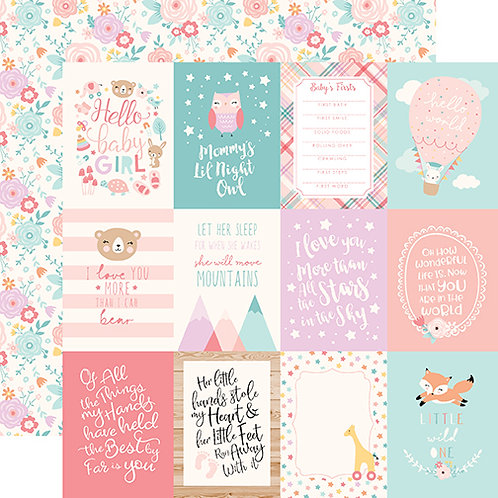 Hello Baby Girl 3x4 Journaling Cards Cardstock