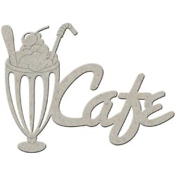 Cafe, Chipboard Shape