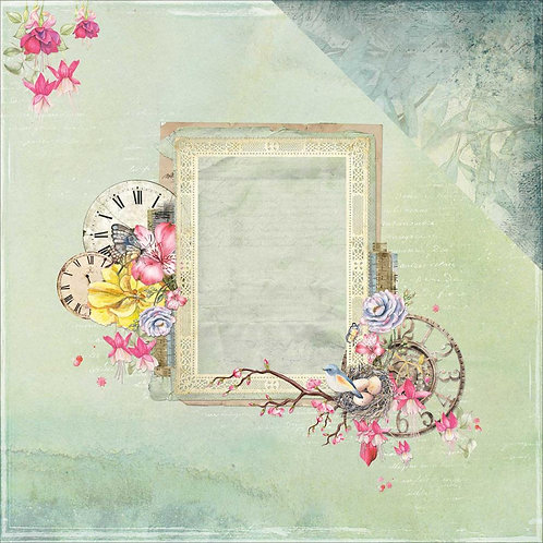 Scents of Nature Clockworks Cardstock