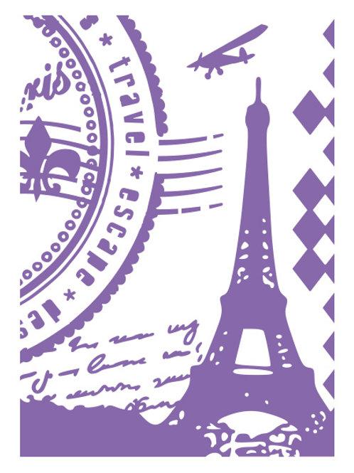 Paris Embossing Folder