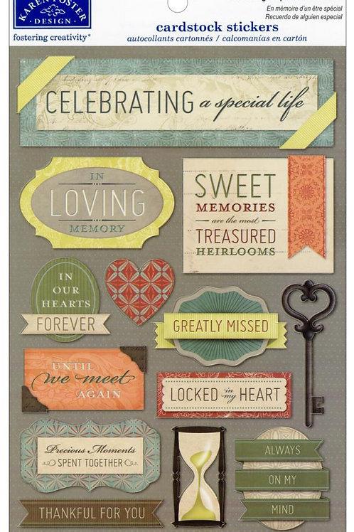 Celebrating a Special Life Sticker Sheet