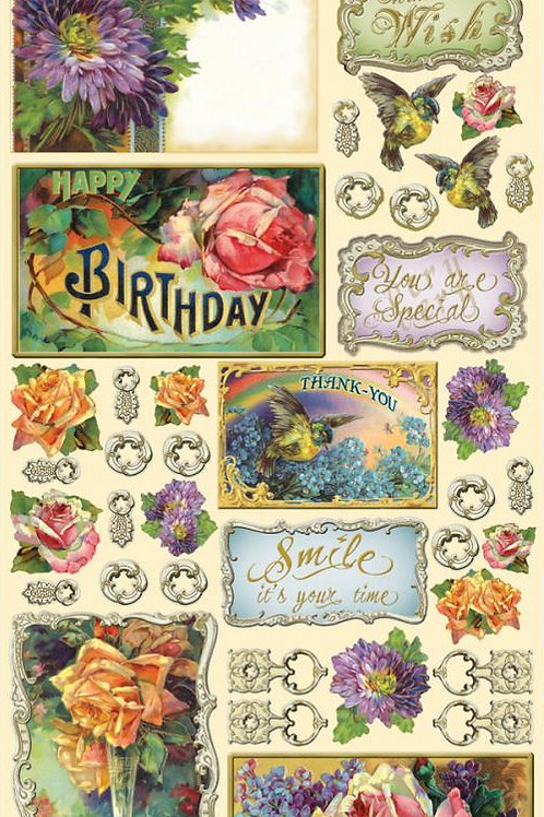 Greetings and Sentiments Vintage Stickers