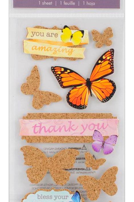 Cork'd Embellishments, Butterflies