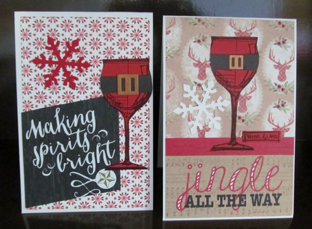 Christmas Wine Cards with Tim Holtz