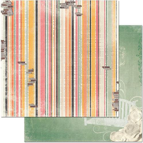 Aryia's Garden Stripe Cardstock