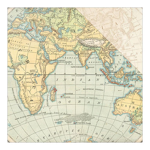 Explore World Map Cardstock 2