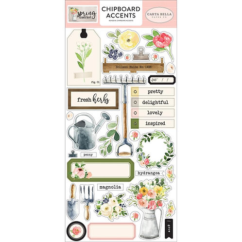 Spring Market Chipboard Accents