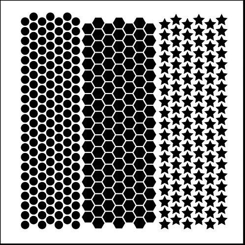 Mini Punchinella 6x6 Stencil